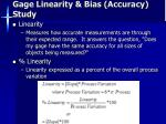 gage linearity bias accuracy study