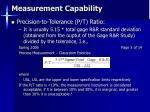 measurement capability