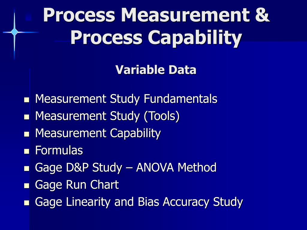 process measurement process capability variable data l.