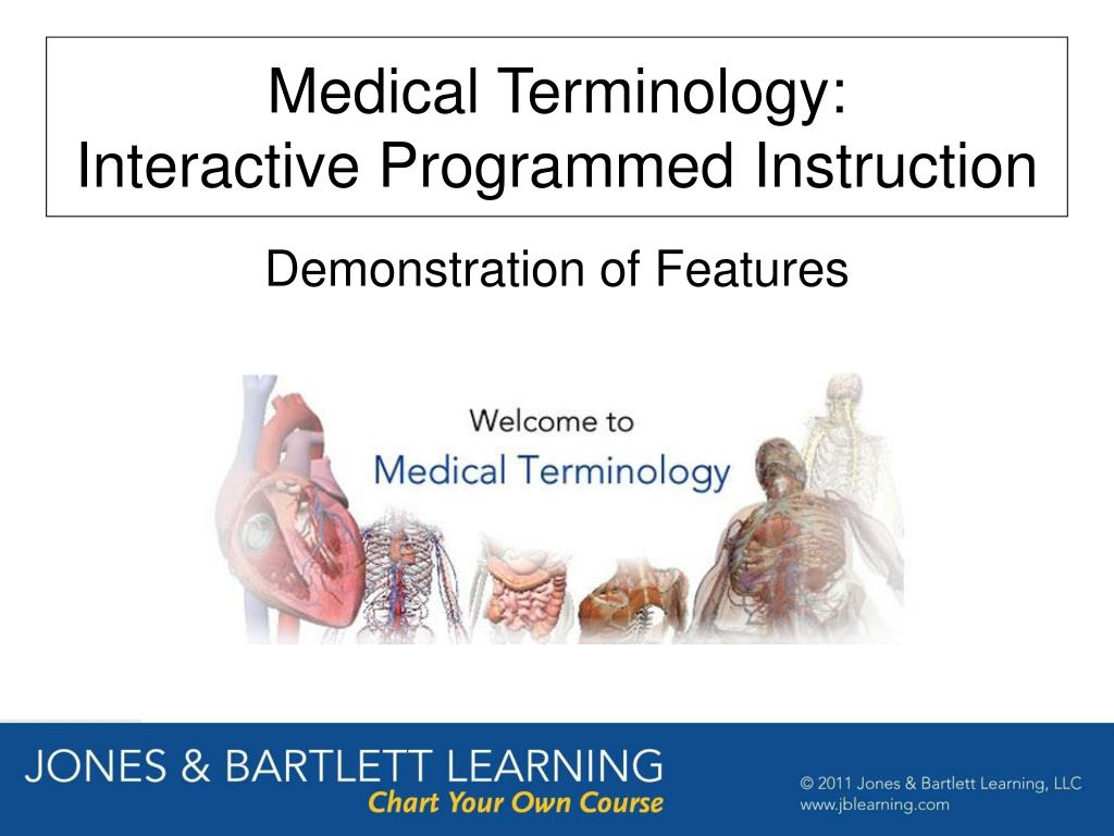 medical terminology interactive programmed instruction l.