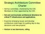 strategic architecture committee charter