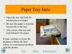 paper tray jams