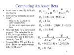 computing an asset beta