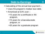 debt to earnings2