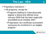 the law hea1