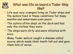 what was life on board a tudor ship like