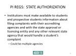 pi regs state authorization52