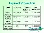 tapered protection