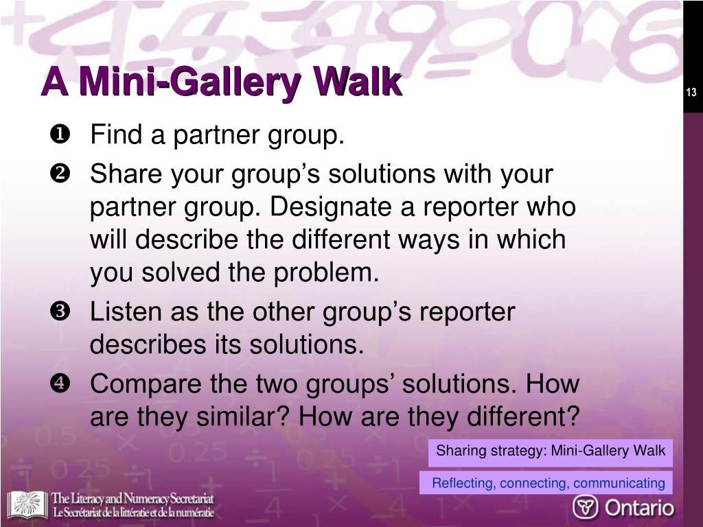 A Mini-Gallery Walk