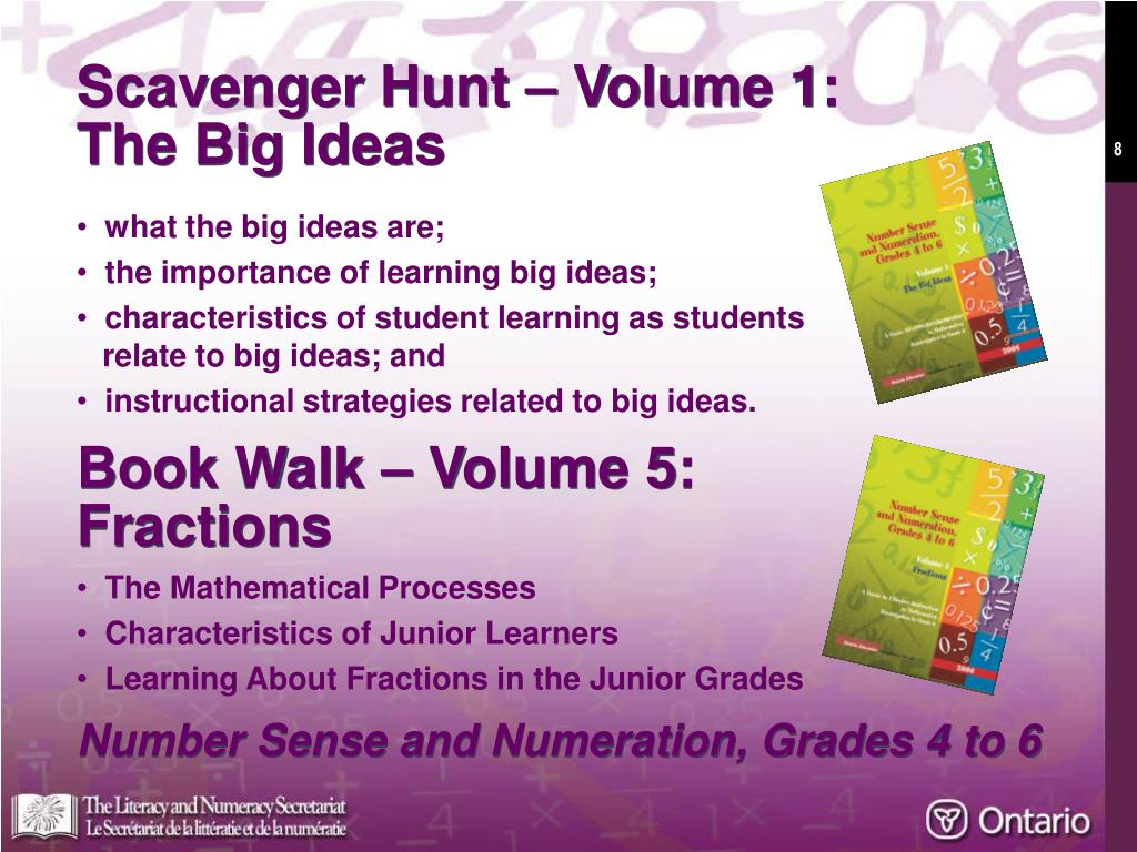 Scavenger Hunt – Volume 1: The Big Ideas