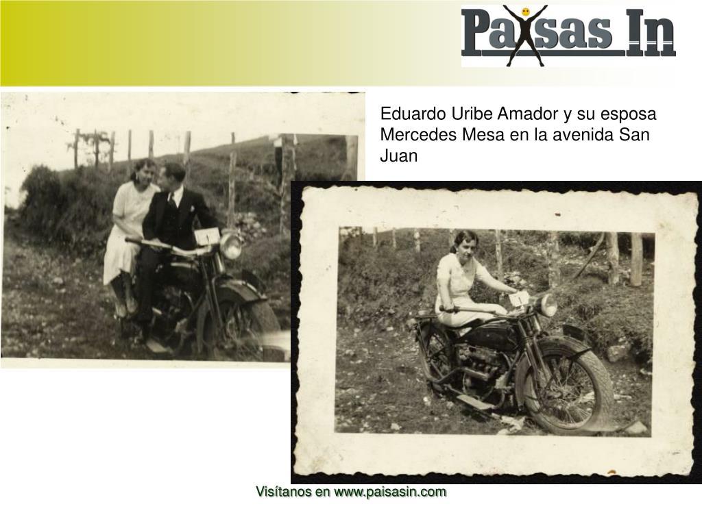 Eduardo Uribe Amador y su esposa