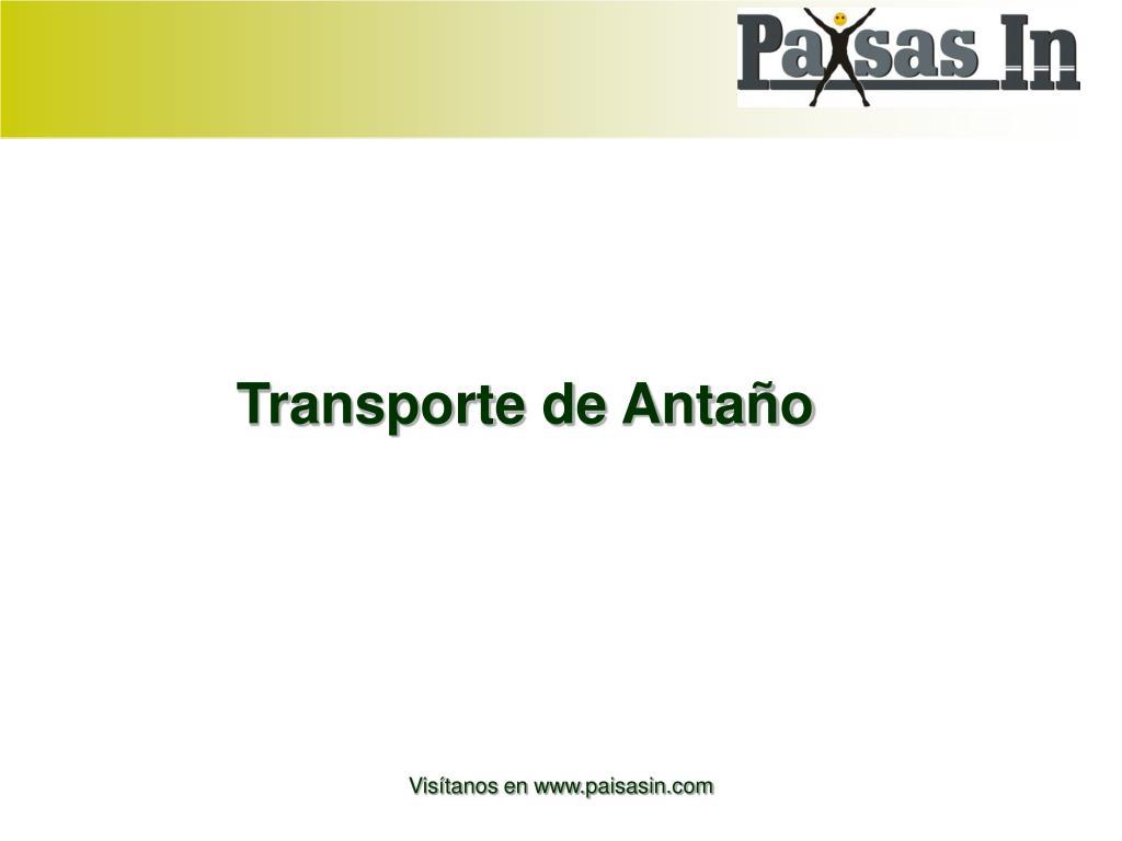 Transporte de Antaño
