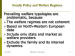 family policy and welfare regimes3