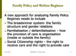 family policy and welfare regimes4