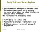 family policy and welfare regimes6