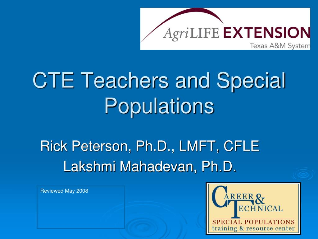 cte teachers and special populations l.