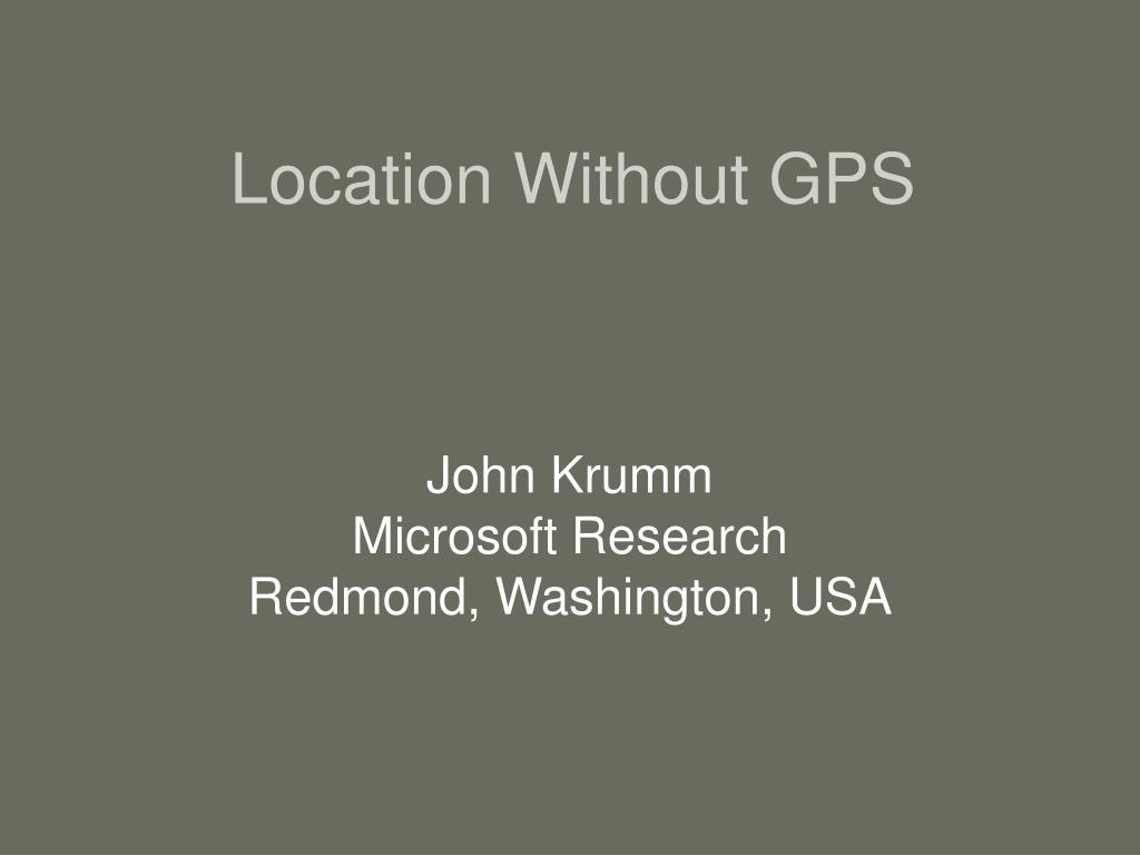location without gps l.