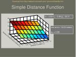 simple distance function