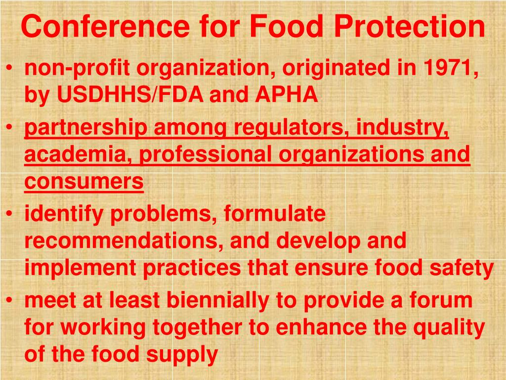 Conference for Food Protection