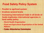 food safety policy system36