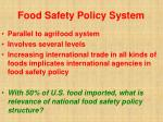 food safety policy system43