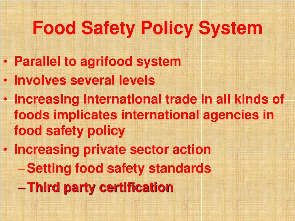 Food Safety Policy System