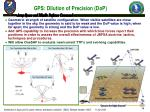 gps dilution of precision dop