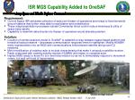 isr mgs capability added to onesaf