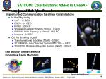 satcom constellations added to onesaf
