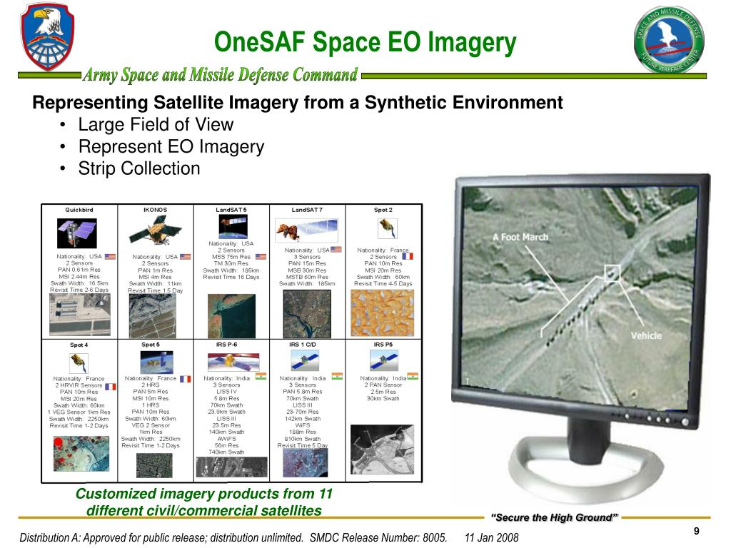 OneSAF Space EO Imagery