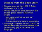 lessons from the shoe story