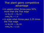 thai plant gains competitive advantage