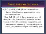 basis limitation for losses6
