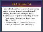 built in gains tax