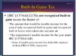 built in gains tax15