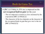 built in gains tax17