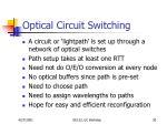 optical circuit switching30
