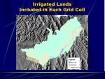 irrigated lands included in each grid cell