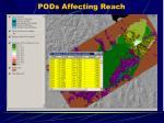 pods affecting reach
