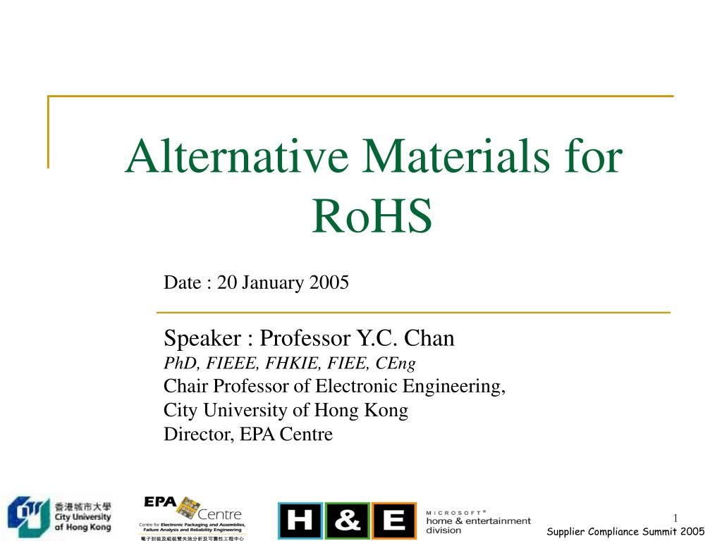 alternative materials for rohs l.