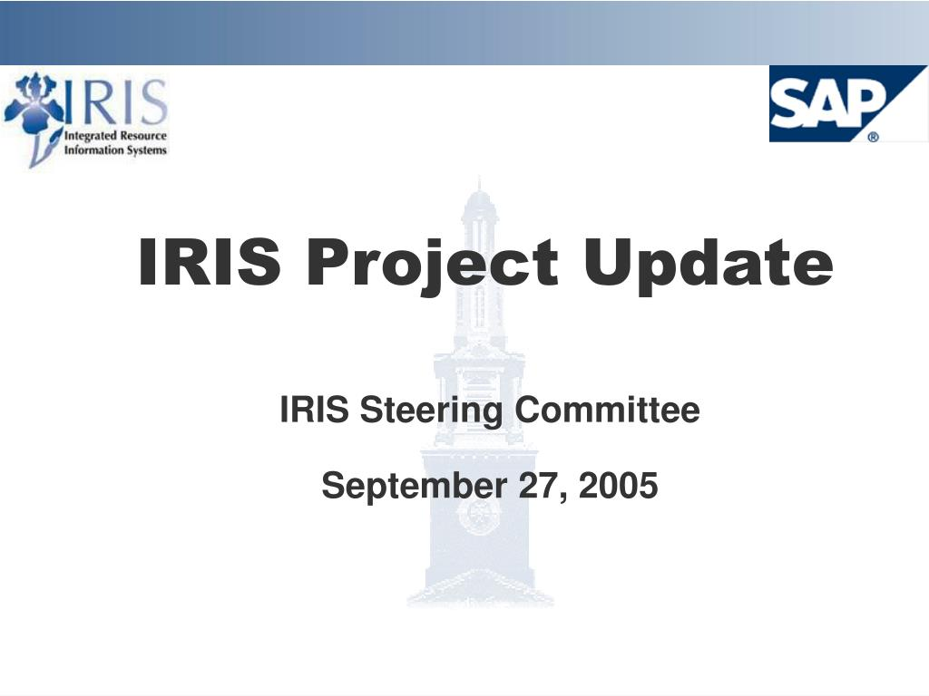 iris project update l.