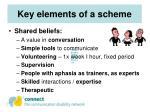 key elements of a scheme
