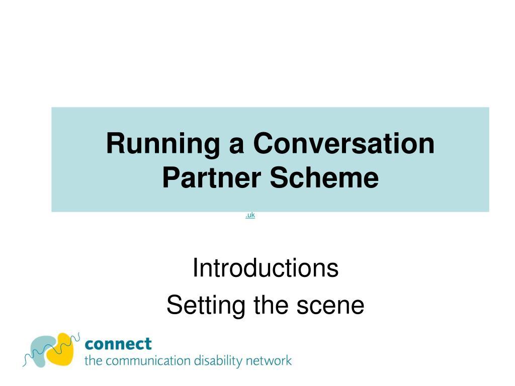running a conversation partner scheme l.