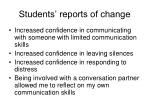 students reports of change