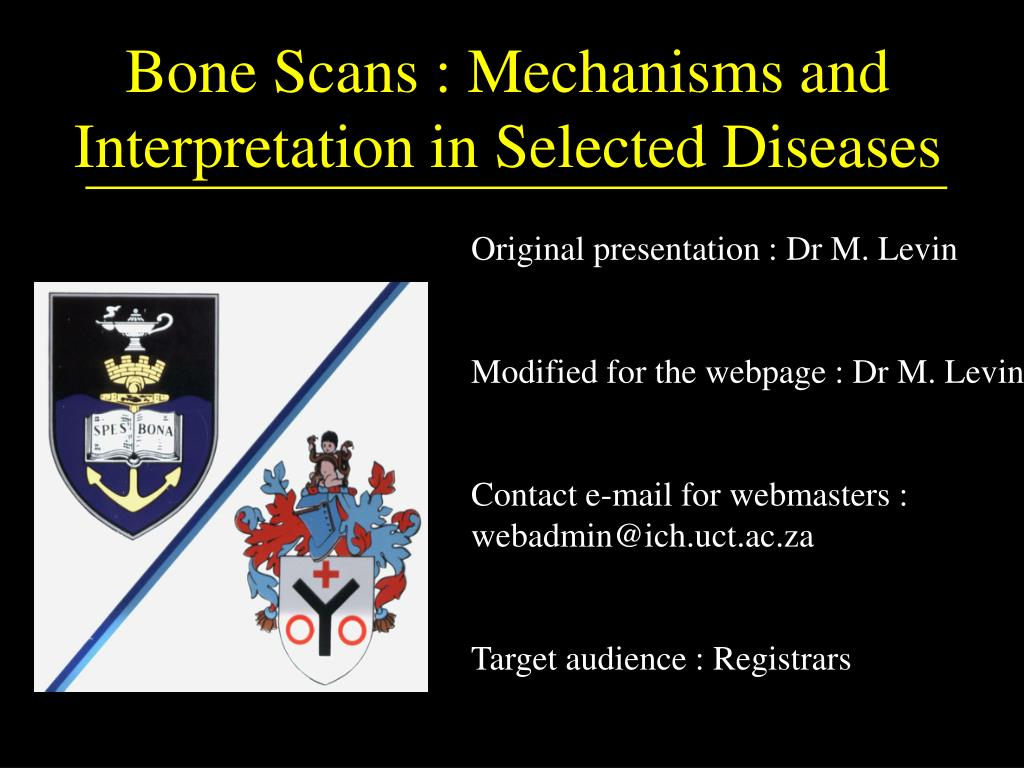 bone scans mechanisms and interpretation in selected diseases l.