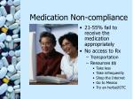 medication non compliance