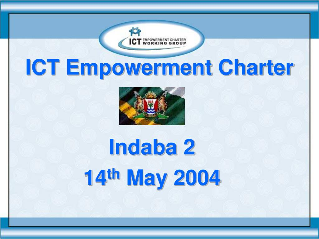 ict empowerment charter l.