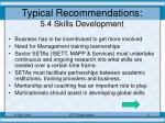 typical recommendations 5 4 skills development