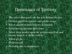 dominance of territory