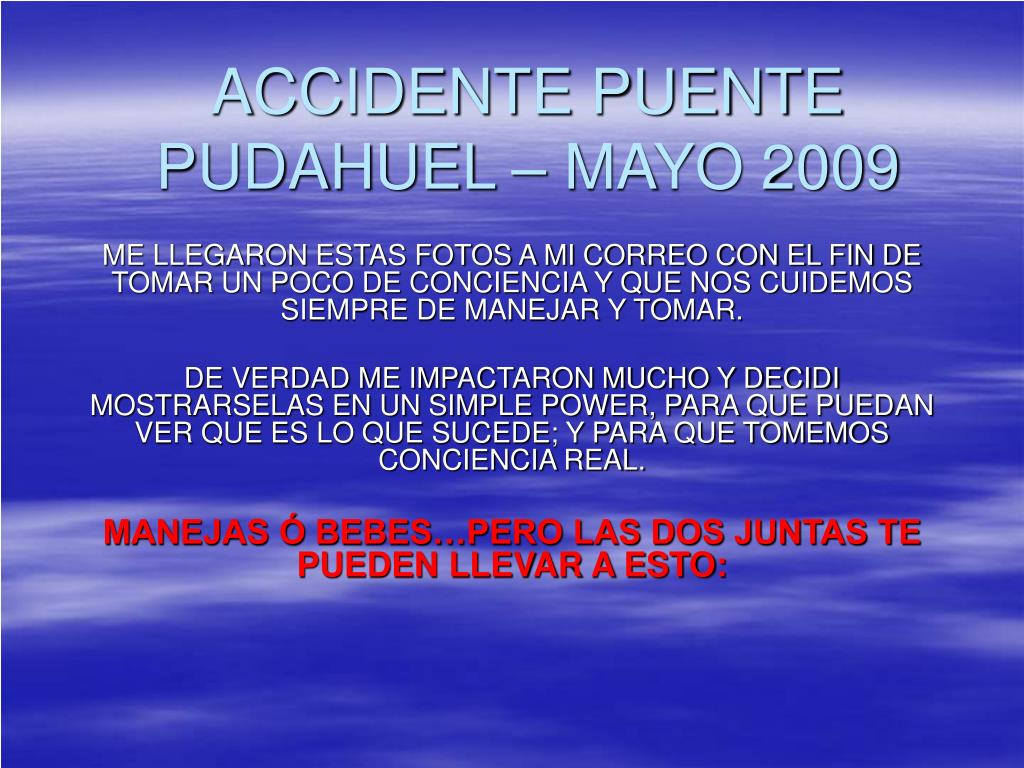 ACCIDENTE PUENTE PUDAHUEL – MAYO 2009